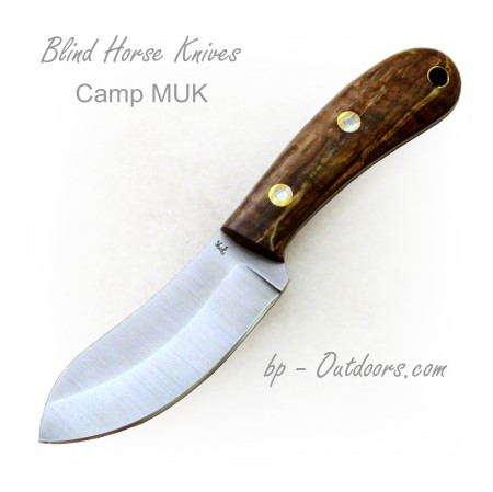 Blind Horse Knives -Monthly Special - Camp MUK - Fiddleback Maple