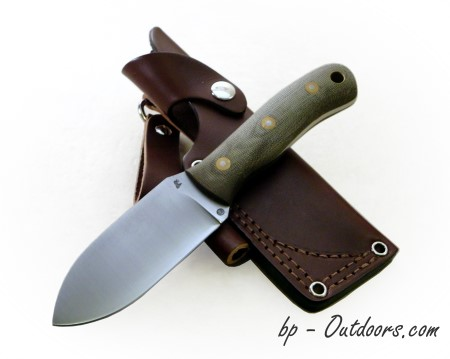 Blind Horse Knives: Bushpig Green Canvas Micarta