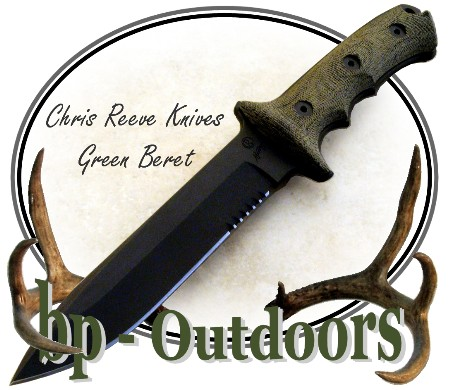 Chris Reeve Knives - The Green Beret Knife designed by renowned knife maker and designer Bill Harsey is a user knife that, just like the men for whom it was designed, is efficient, tough and uncompromising.
