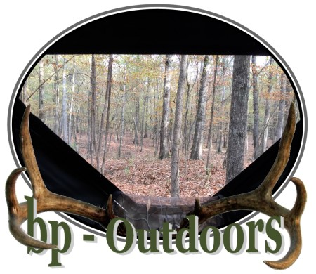 Views from inside a hunting ground blind by Ameristep