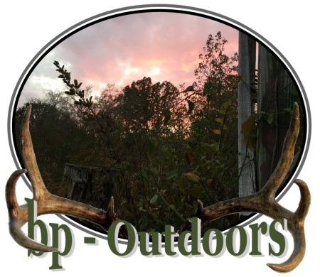 Views of a sunset from a hunting ground blind by Ameristep
