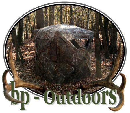 Views of a hunting ground blind by Ameristep