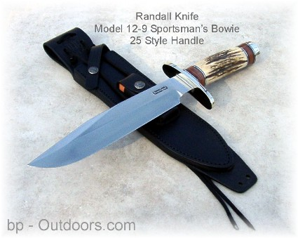 Randall Knife 12-9 with 14 Grind, 25 Handle Bowie