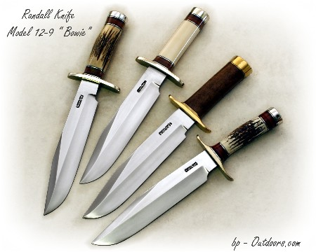 Randall Knife Model 12-9 Sportsmans Bowie Stag, Ivory, Walnut