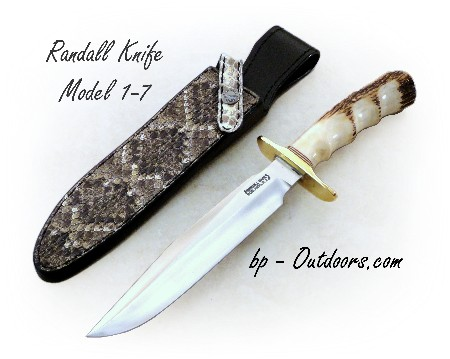 Randall Knife Model 1-7 Fighter Stag with Finger Grips