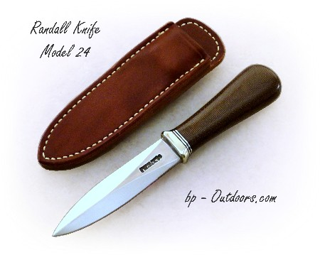 Randall Knife Model 24 - Green Canvas Micarta Handle