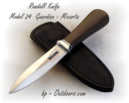 Randall Knife Model 24 Guardian - Green Canvas Micarta