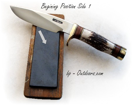 Randall knife Model 25-6 Sharpening Direction