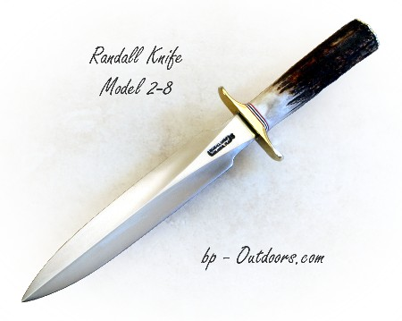 Randall Knife Model 2 Fighting Stiletto Stag