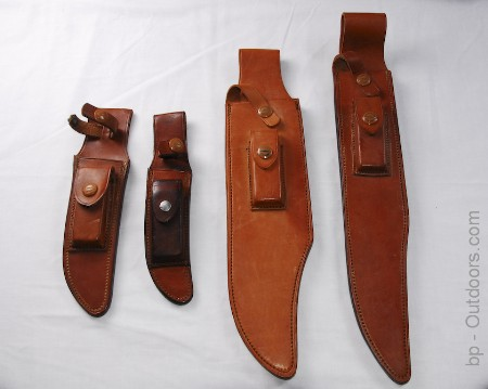 Brown Button Heiser Sheaths