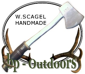 William Scagel Knives - Axe -  Leather and Brass Handle