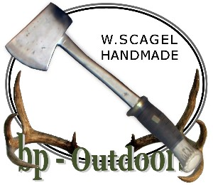 William Scagel Knives - Axe - Leather and Stag Handle