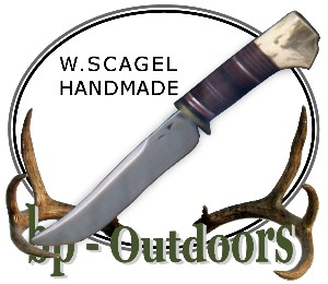 William Scagel Knives - Hunter -  Leather and Stag Handle