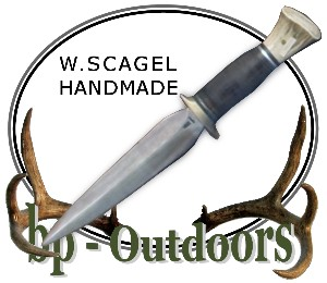 William Scagel Knives - Stiletto - Leather and Stag Handle
